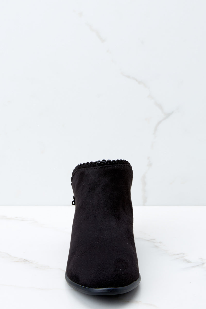 Ready For The Journey Black Ankle Booties