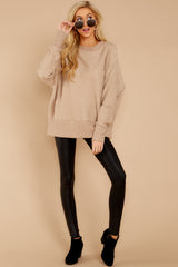 1 Day After Day Taupe Sweater at reddressboutique.com