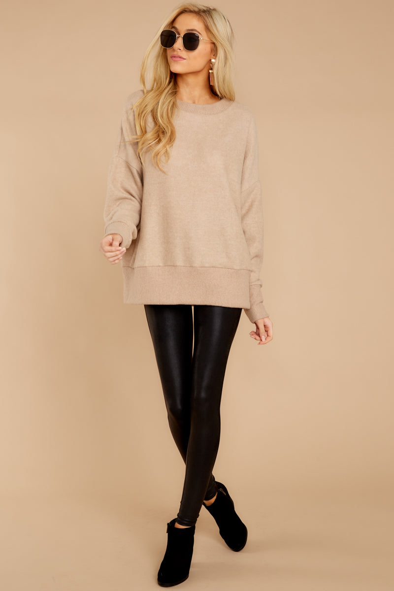 2 Day After Day Taupe Sweater at reddressboutique.com