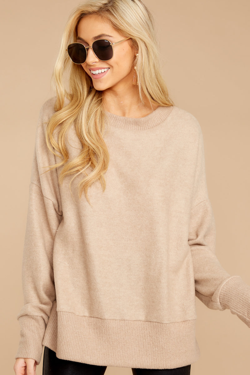 5 Day After Day Taupe Sweater at reddressboutique.com