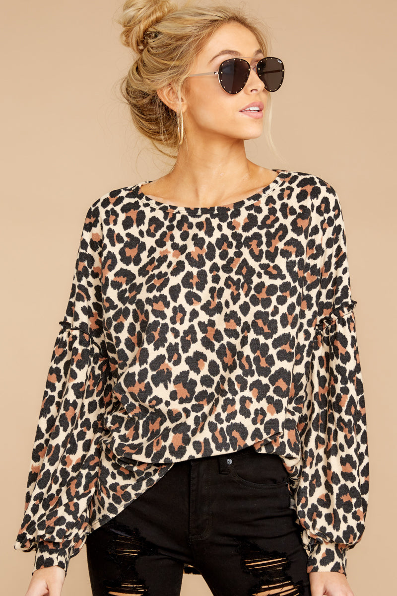 About The Karma Top in Trendy Leopard