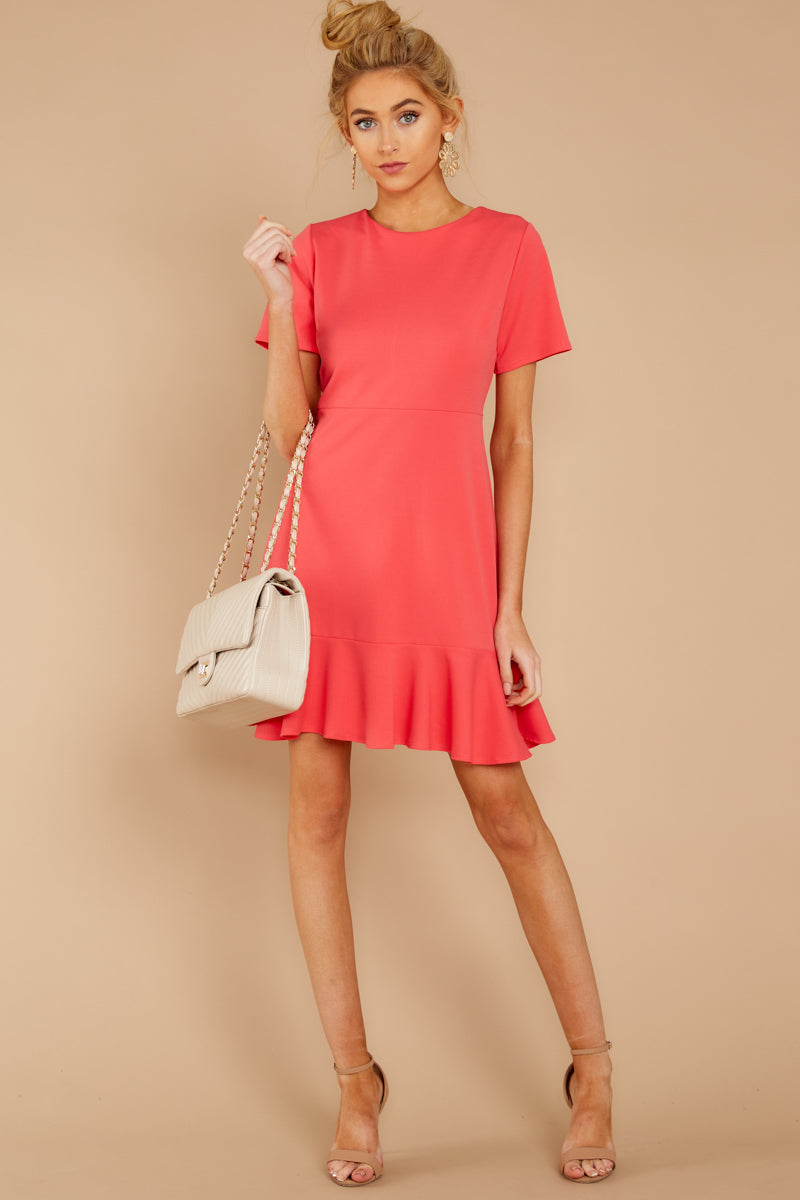 Fashion style Red dress short with sleeves for lady