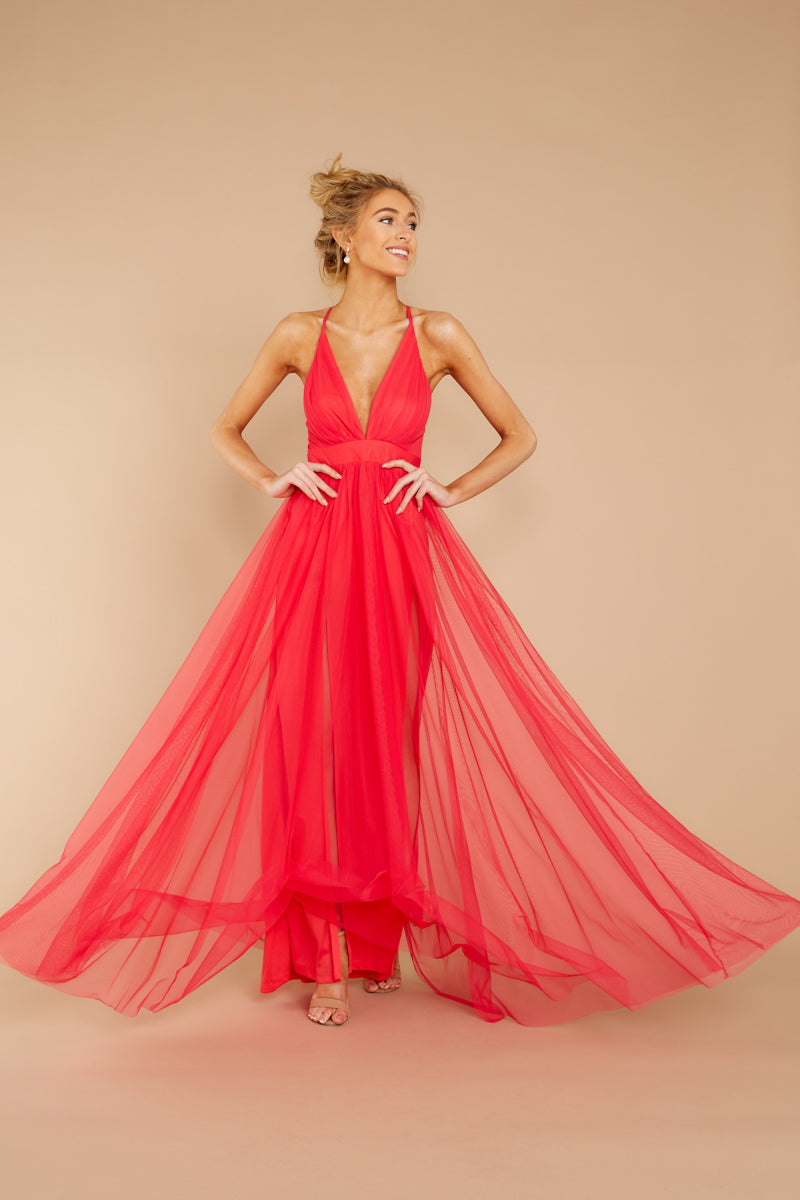 Matters Of The Heart Bright Pink Maxi Dress at reddressboutique.com