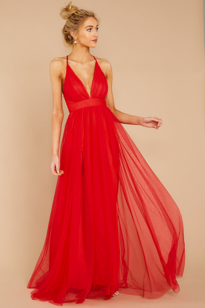 Matters Of The Heart Red Maxi Dress at reddressboutique.com