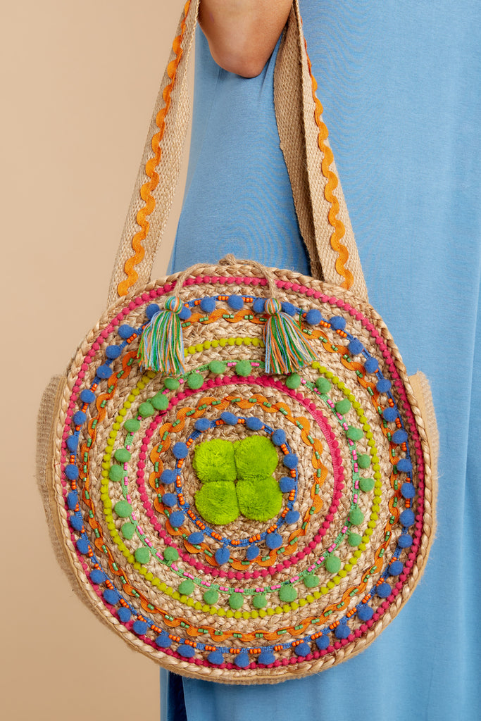 1 Mexicana Sunrise Pink Embroidered Tote at reddressboutique.com