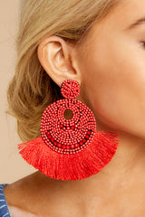 2 Greatest Ever Red Statement Earrings at reddressboutique.com