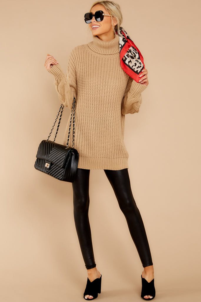 1 Say Anything Cream Turtleneck Sweater at reddressboutique.com