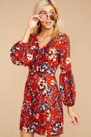 V-neck Sheath Spring Polyester Button Front Darted Princess Seams Waistline Floral Print Beach Dress/Sheath Dress