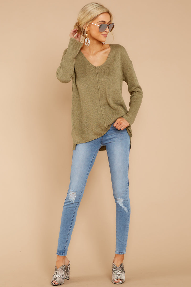 1 Stay Here Moss Sweater at reddressboutique.com