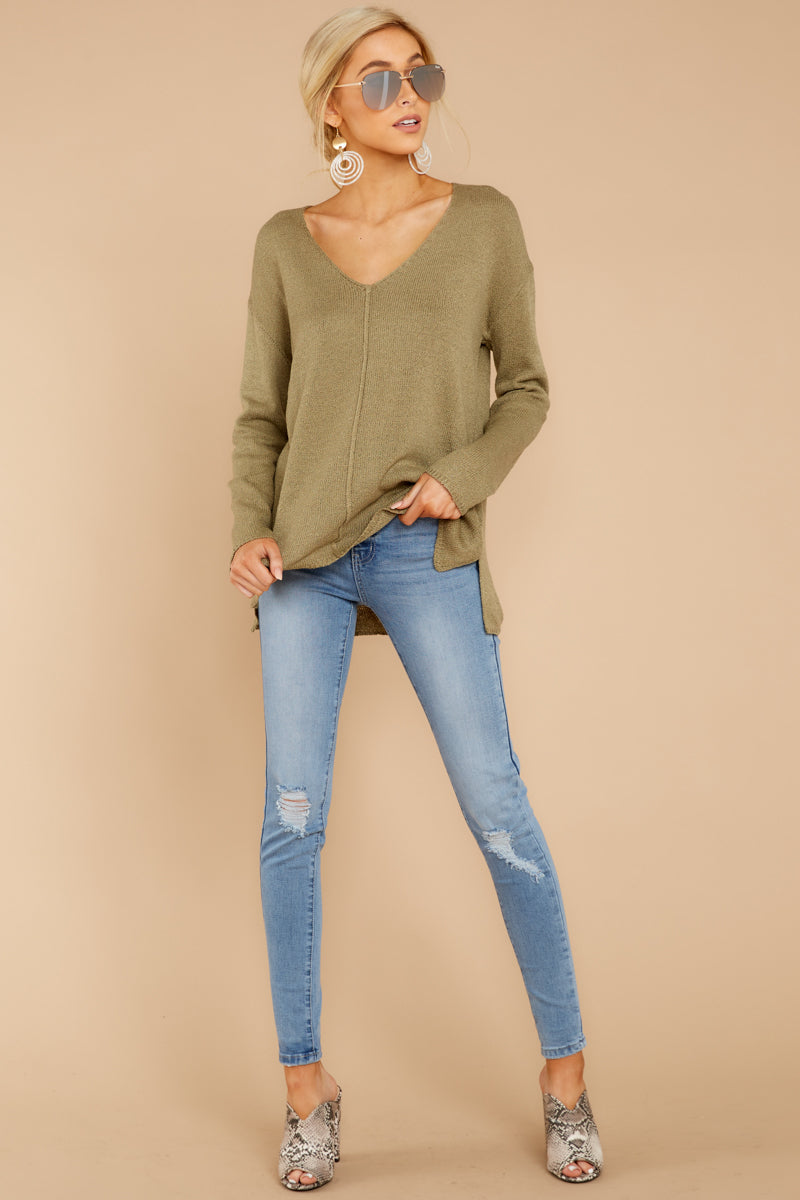 2 Stay Here Moss Sweater at reddressboutique.com