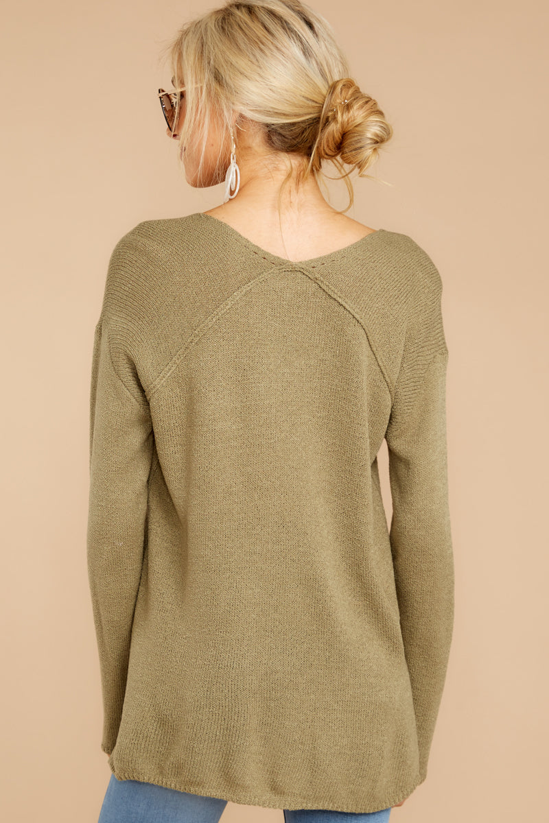 6 Stay Here Moss Sweater at reddressboutique.com