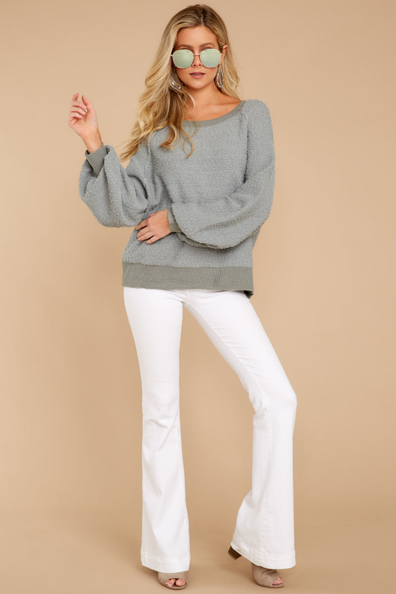 429b55e9e21 Adorable Sage Green Fuzzy Sweater - Soft Oversized Sweater - Top ...