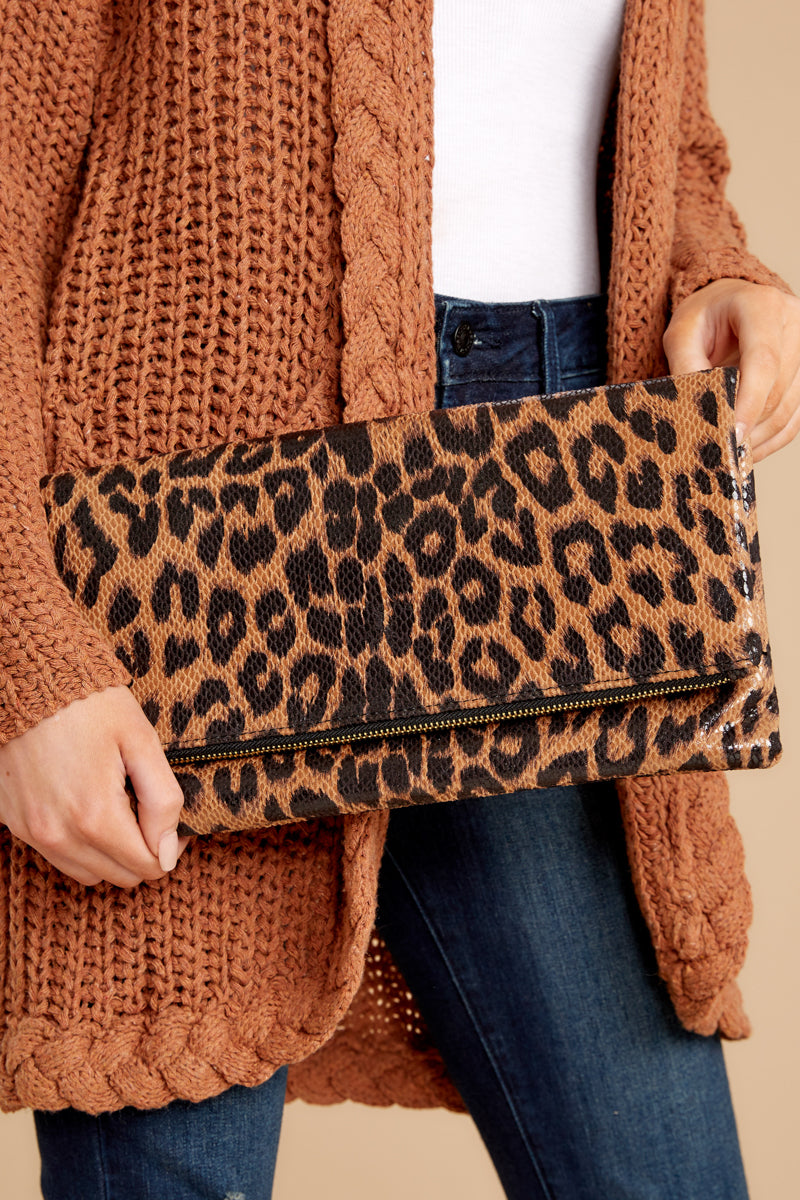 This Wild Life Leopard Clutch