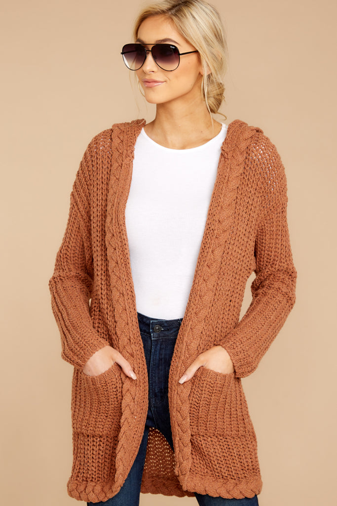 1 Comfort Basis Light Clay Cardigan at reddressboutique.com