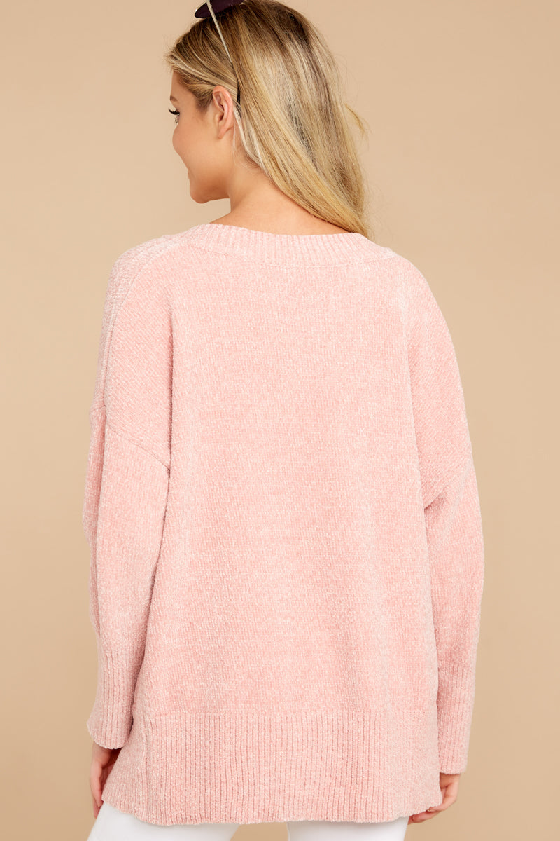 Make It Casual Mauve Pink Chenille Sweater at reddressboutique.com