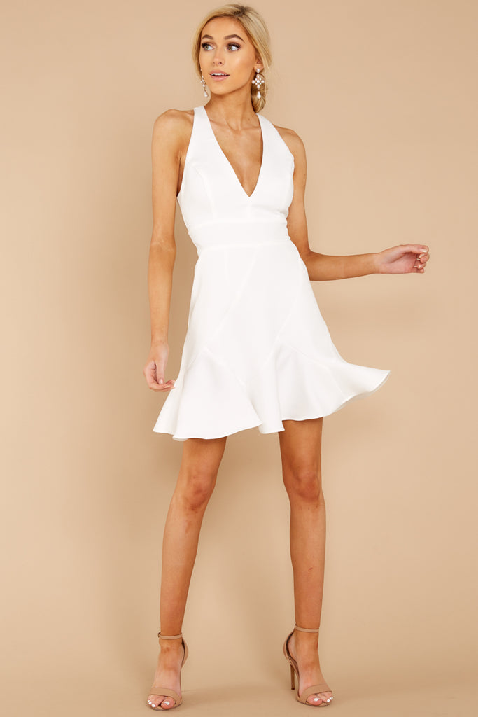 1 You'll Miss Me White Dress at reddressboutique.com