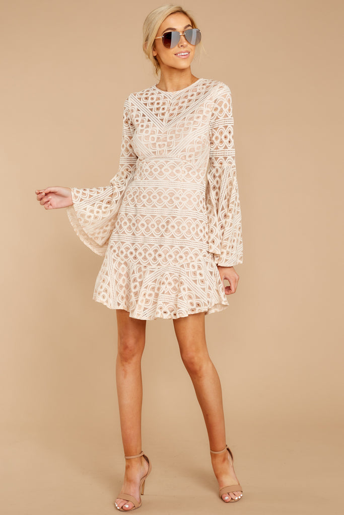 1 Perfectly Pleasant Ivory Lace Dress at reddressboutique.com
