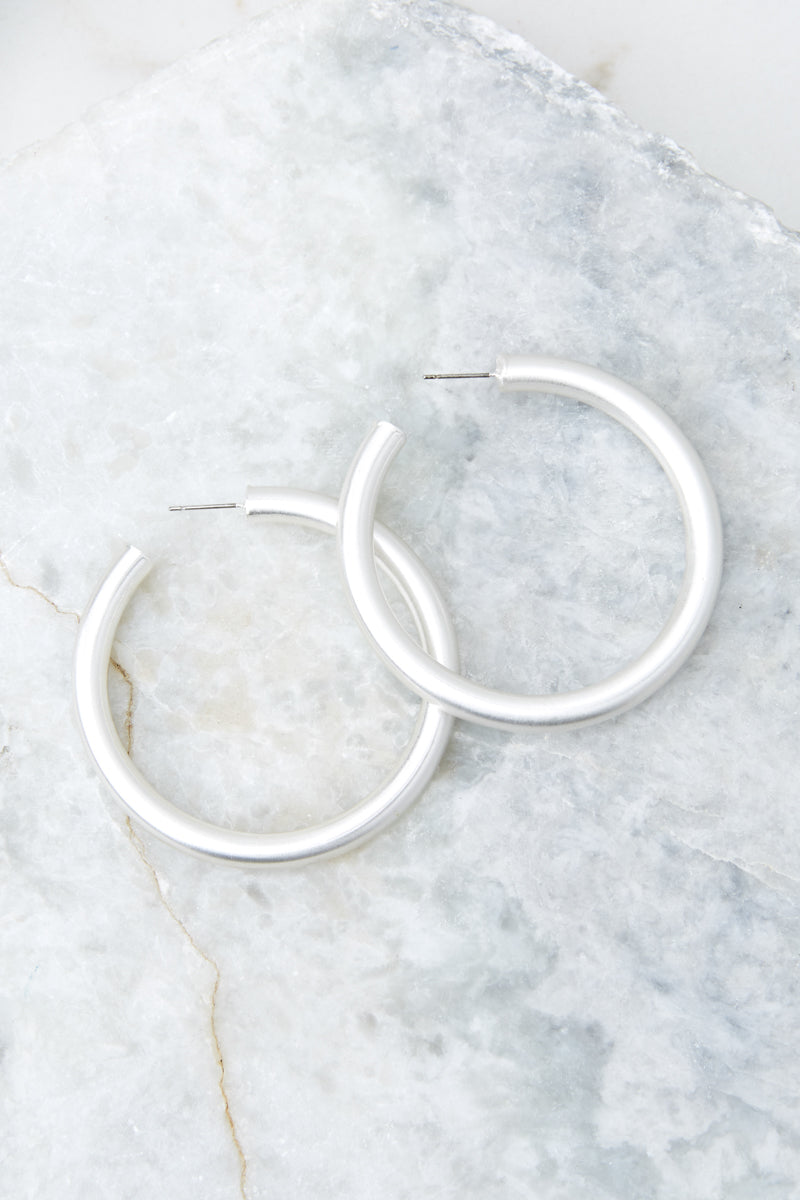 Fly Girl Silver Hoop Earrings