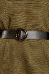2 An Acquired Waist Black Belt at reddressboutique.com