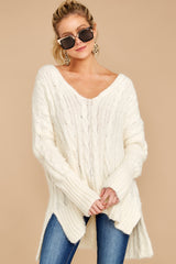 8 Me Myself And I Cream Sweater at reddressboutique.com