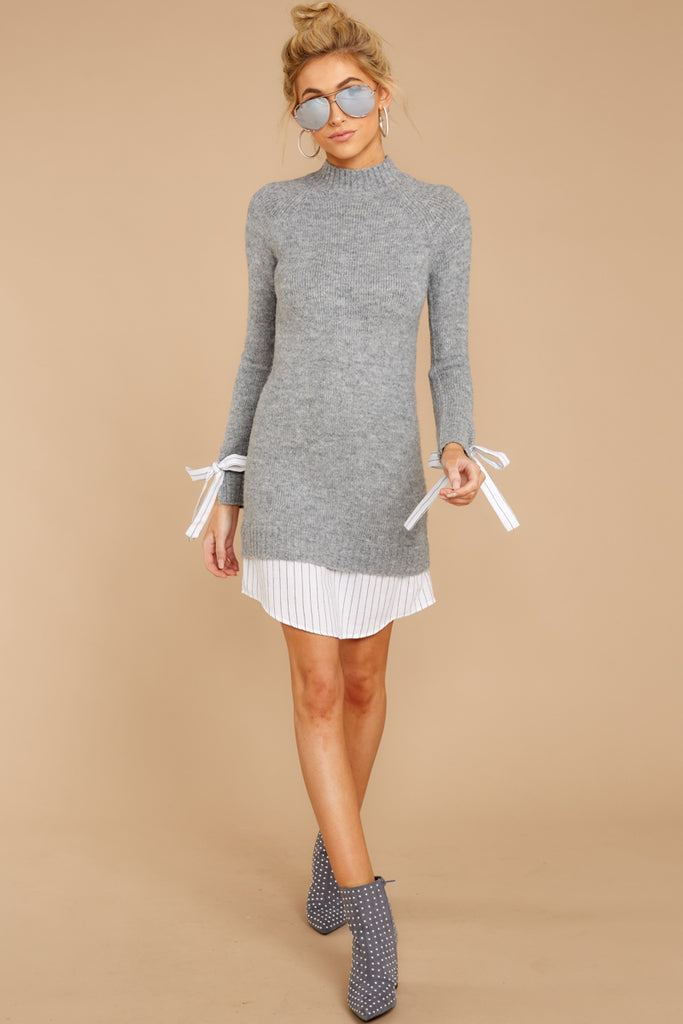 1 Impeccable Style Ivory Sweater Dress at reddress.com