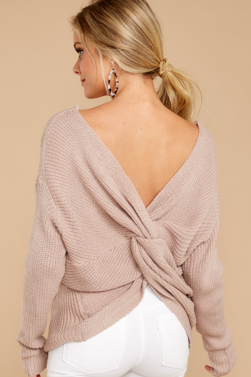 All Shook Up Mauve Sweater