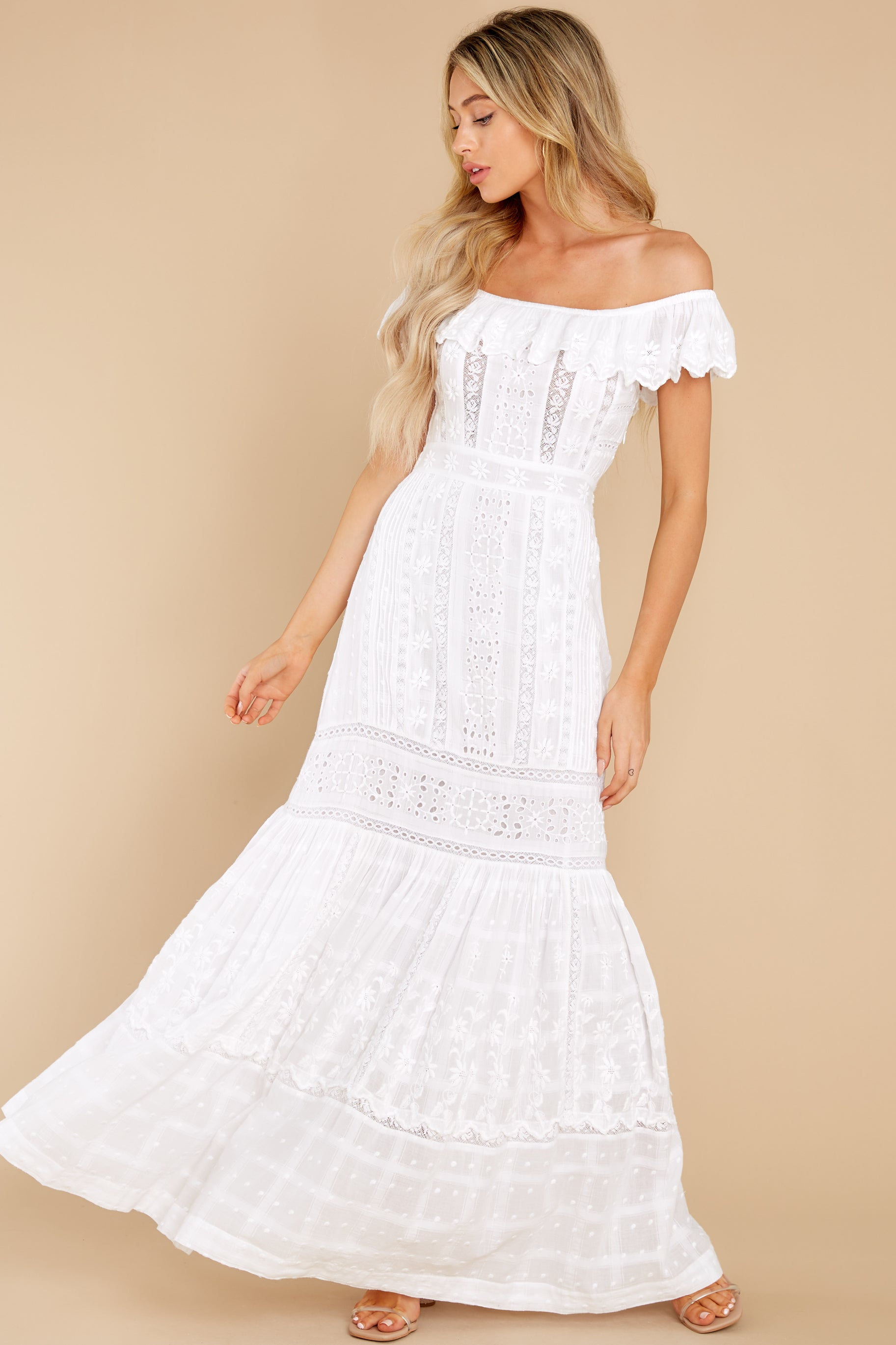Cottagecore Dresses Aesthetic, Granny, Vintage Niko White Dress $495.00 AT vintagedancer.com