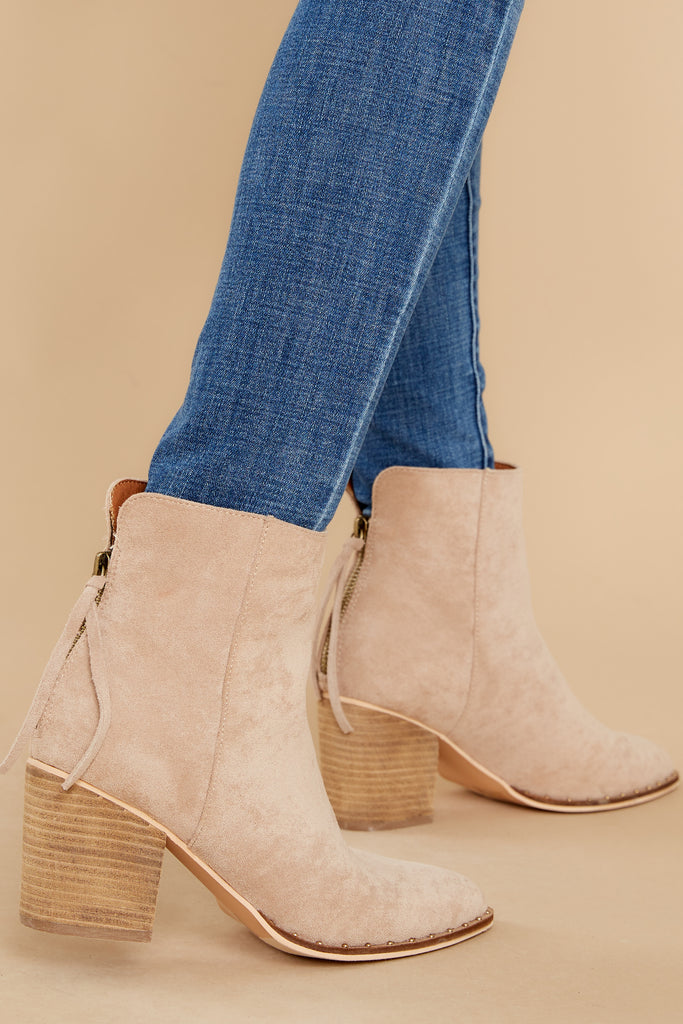 1 Photo Finish Tan Ankle Booties at reddress.com