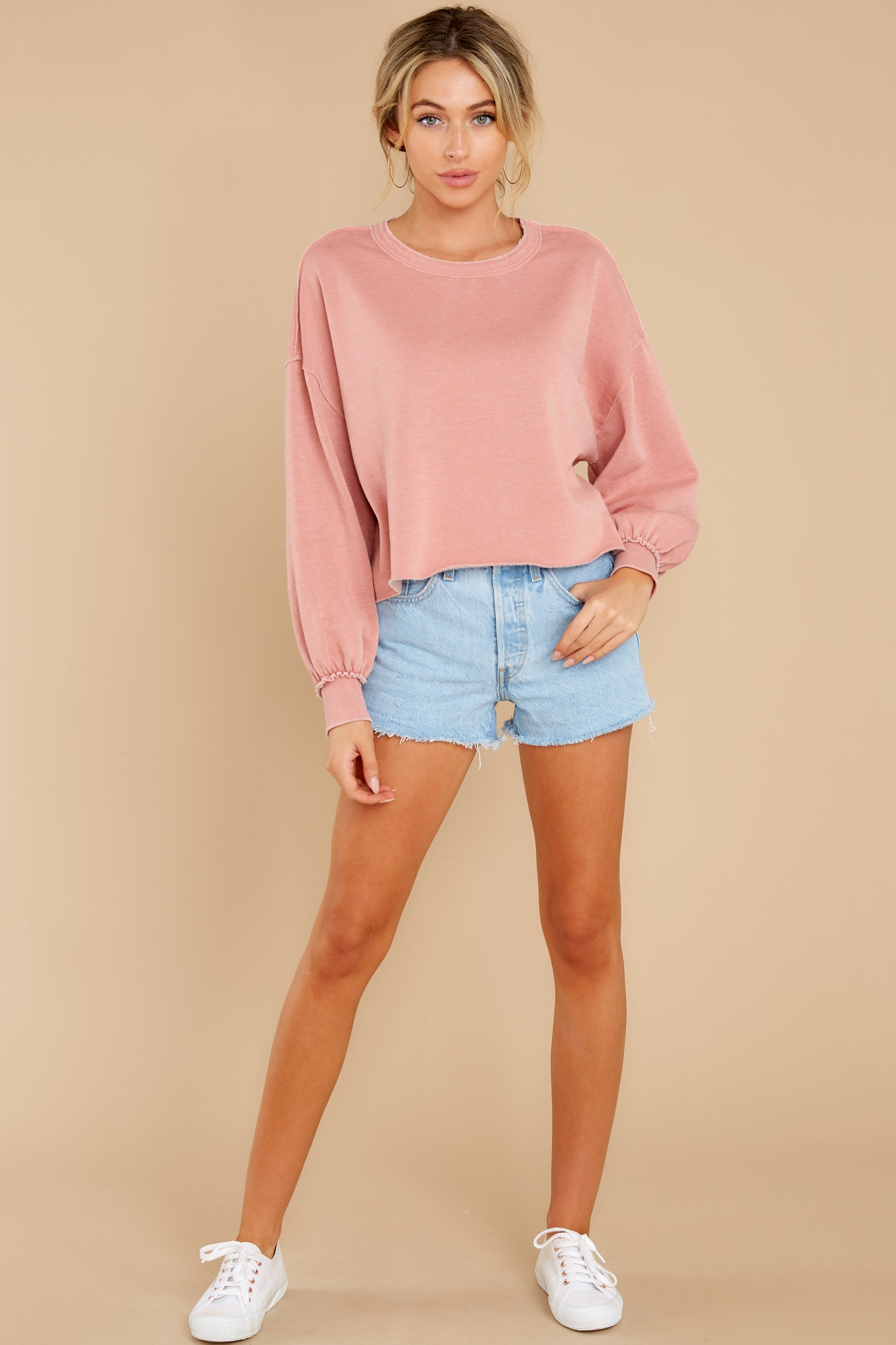 3 Tempest Petal Pink Sweatshirt at reddress.com