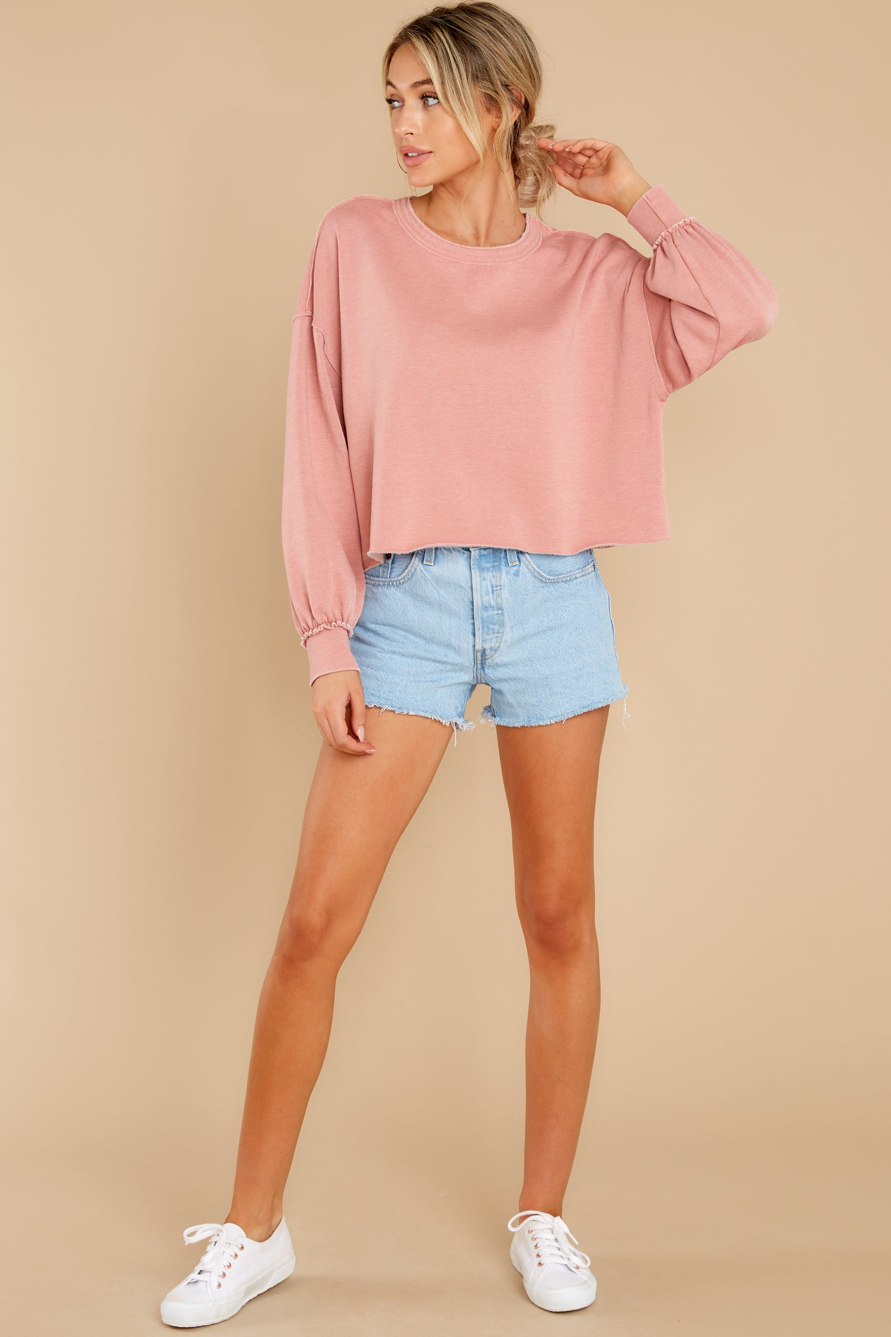 4 Tempest Petal Pink Sweatshirt at reddress.com