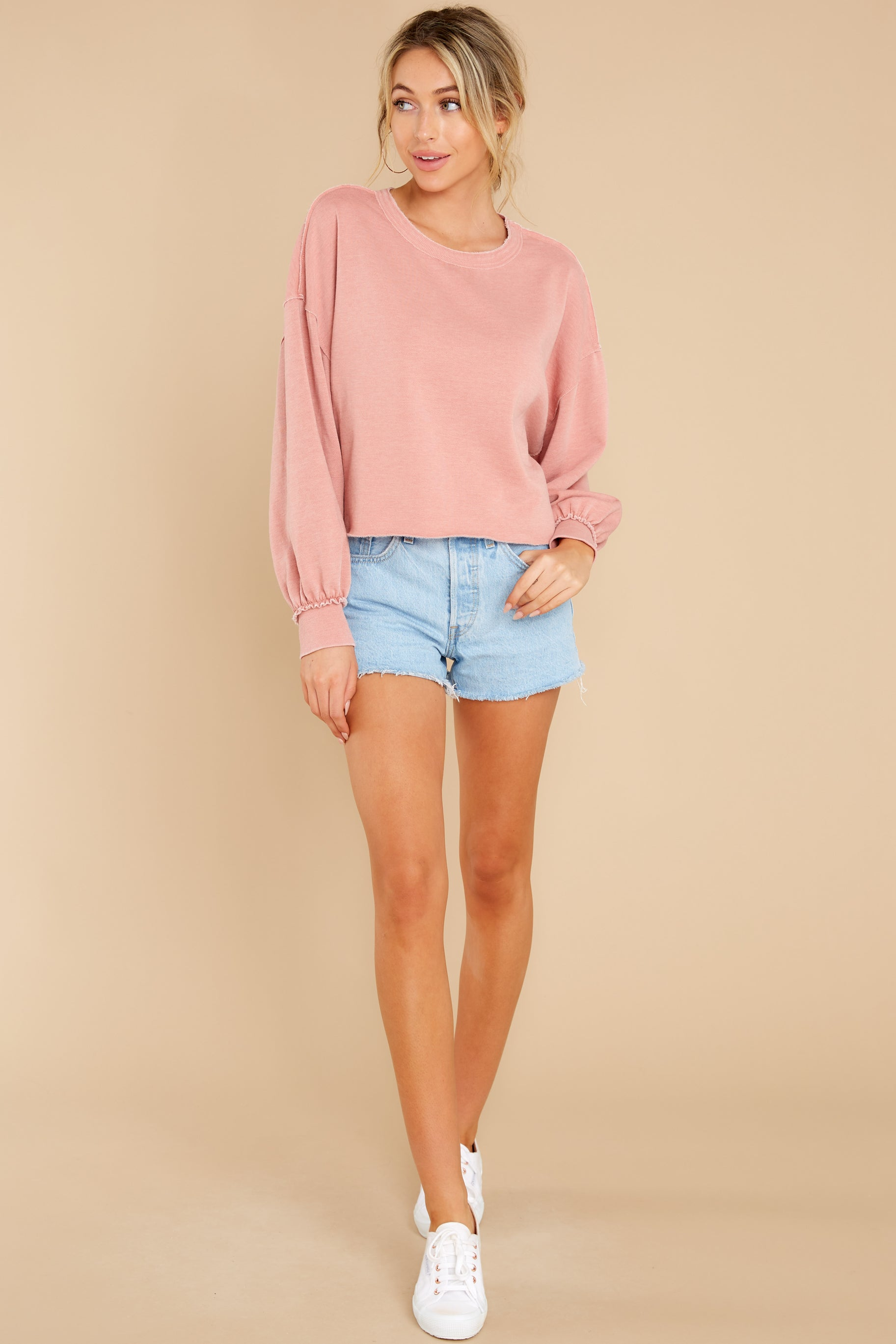 5 Tempest Petal Pink Sweatshirt at reddress.com