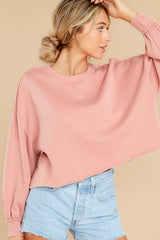 6 Tempest Petal Pink Sweatshirt at reddress.com