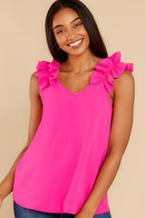 2 Game Ready Hot Pink Top at reddress.com