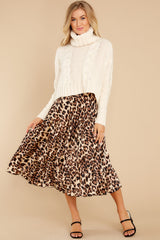 5 Act Wildly Leopard Print Midi Skirt at reddress.com