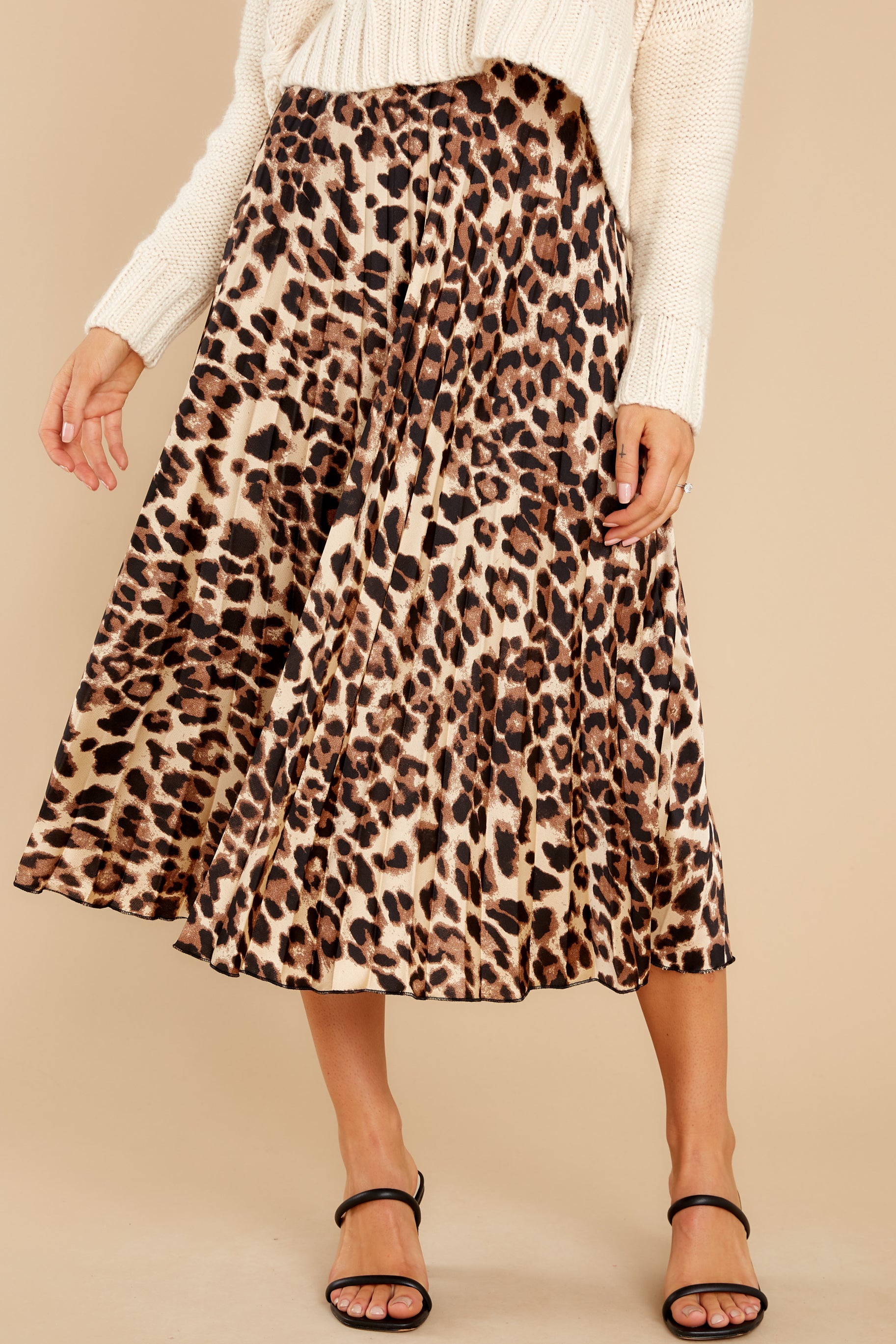70s Clothes | Hippie Clothes & Outfits Act Wildly Leopard Print Midi Skirt Brown $19.00 AT vintagedancer.com