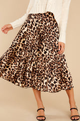 2 Act Wildly Leopard Print Midi Skirt at reddress.com