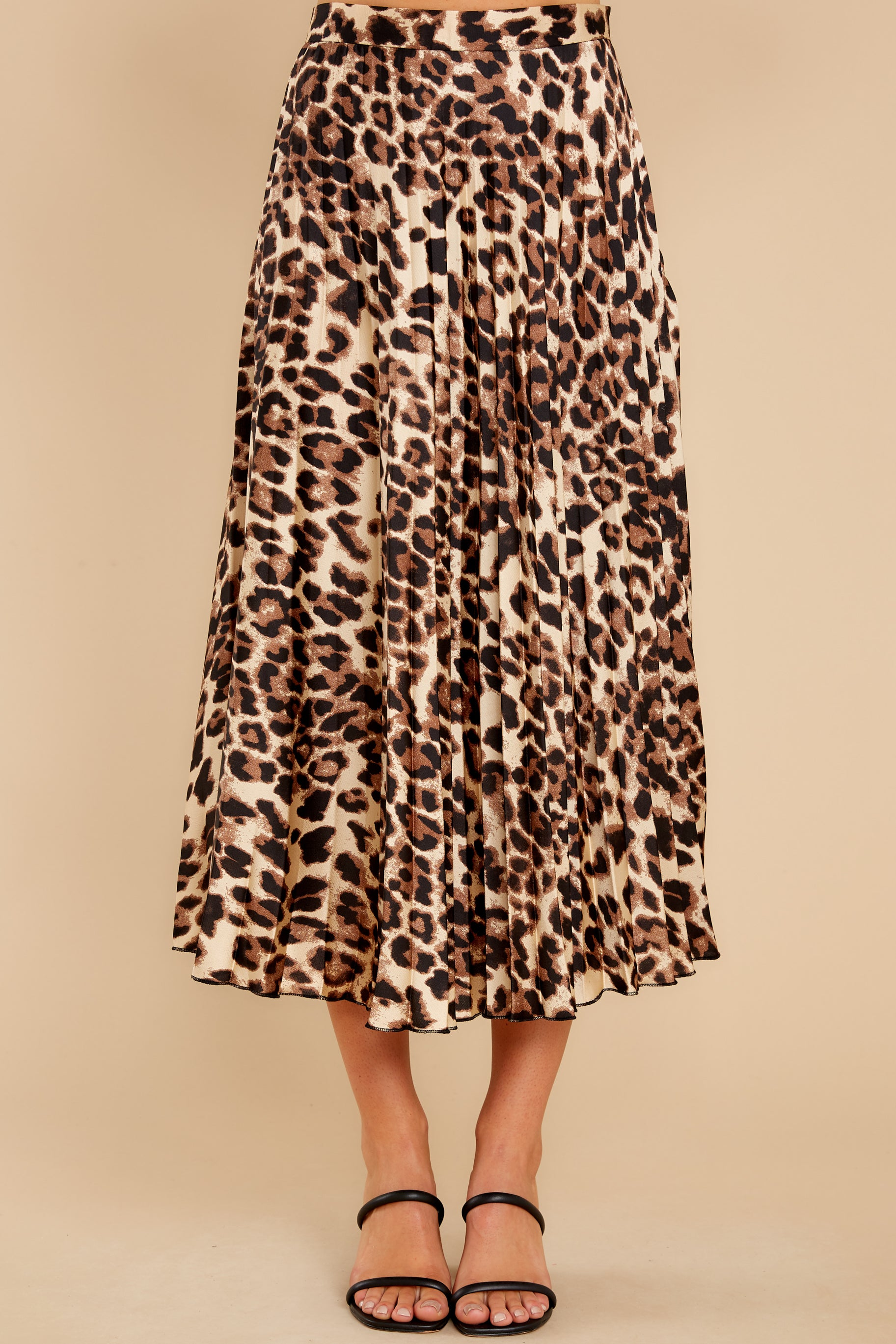 3 Act Wildly Leopard Print Midi Skirt at reddress.com