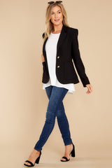 3 Out Of The Box Black Coat at reddress.com