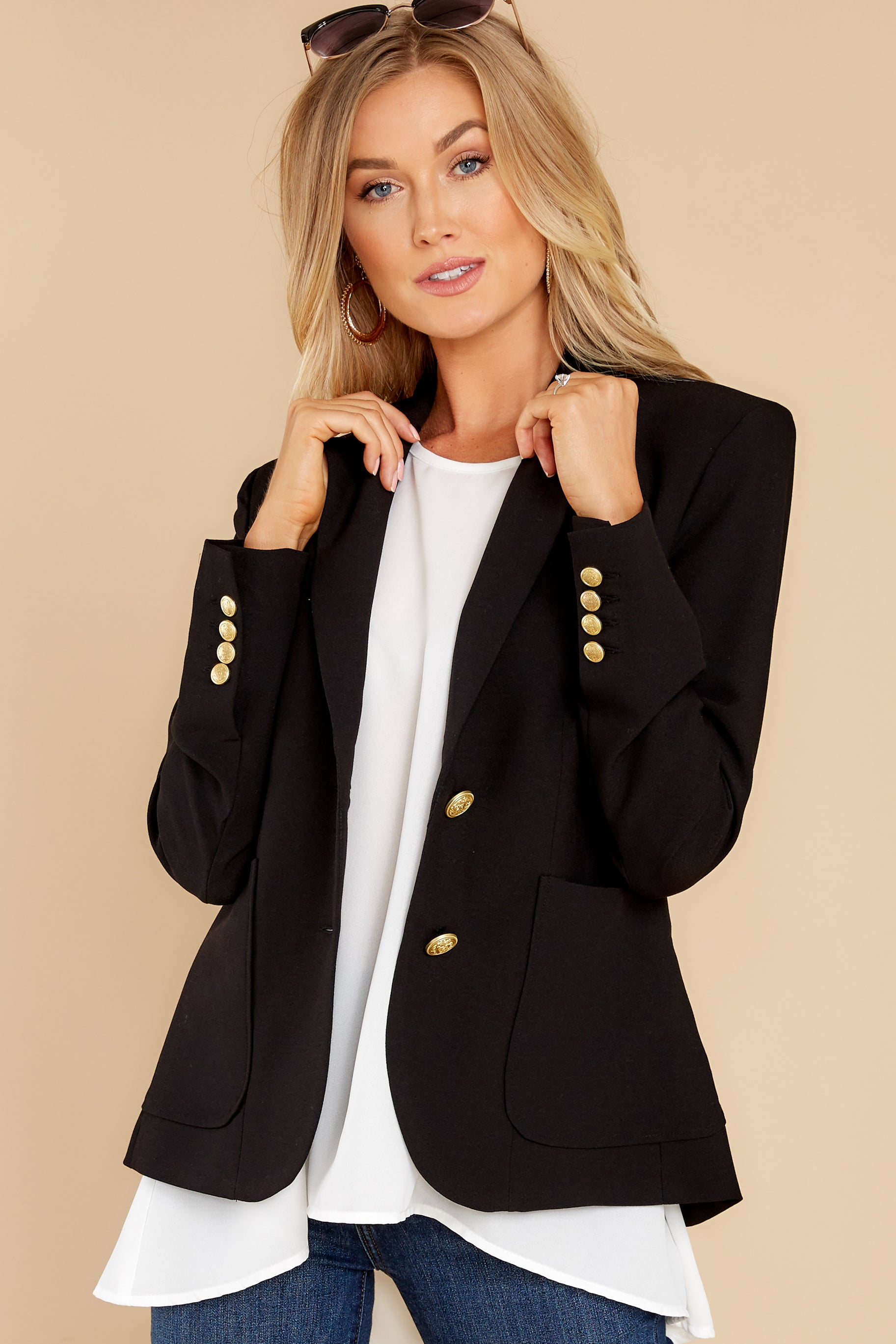5 Out Of The Box Black Coat at reddress.com