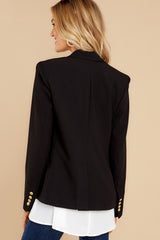 9 Out Of The Box Black Coat at reddress.com