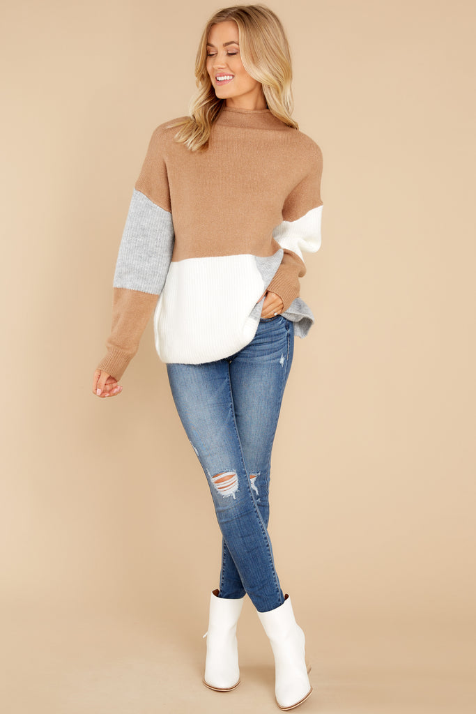 1 Looking Ahead White Sweater at reddress.com