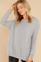 2 Down The Road Light Grey Top at reddress.com