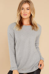 1 Down The Road Light Grey Top at reddress.com