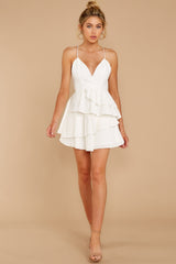3 Knockout Sway White Dress at reddressboutique.com