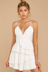 7 Knockout Sway White Dress at reddressboutique.com