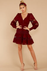 1 Of Romance And Lace Wine Dress at reddress.com