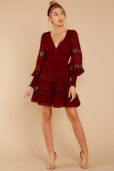 2 Of Romance And Lace Wine Dress at reddress.com