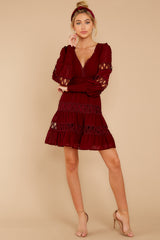 3 Of Romance And Lace Wine Dress at reddress.com