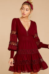4 Of Romance And Lace Wine Dress at reddress.com