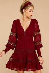 5 Of Romance And Lace Wine Dress at reddress.com